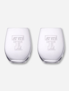 Reidel Texas Tech Etched Cabernet and Merlot 2 Pack Wine Glass