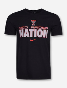 Nike Texas Tech Red Raider Nation on Black T-Shirt