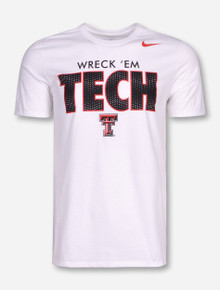 Nike Texas Tech Wreck 'Em Tech on White T-Shirt