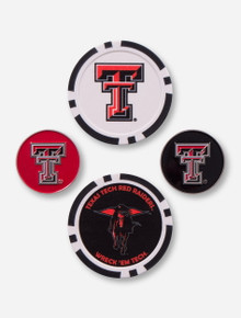 Team Effort Texas Tech 4 Ball Markers