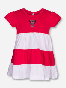 "Garb Texas Tech ""Becca"" INFANT Red and White Dress"