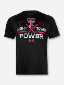 "Under Armour Texas Tech ""Light Tower Power"" on Black T-Shirt"