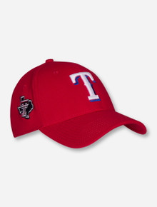 New Era MLB Texas Rangers and Texas Tech Lone Star Pride on Red Stretch Fit Cap