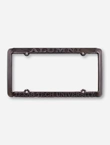 Texas Tech Alumni Gun Metal License Plate Frame