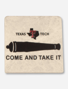Texas Tech Come & Take It on Marble Coaster