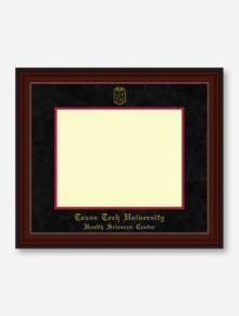 HSC Gold Embossed Cherry Bead Black Suede Diploma Frame T10