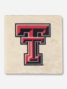 Texas Tech Double T Marble Coaster