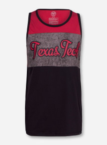 "47 Brand Texas Tech ""Stone Block"" Black and Red Tank Top"