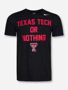 Nike Texas Tech or Nothing on Black T-Shirt