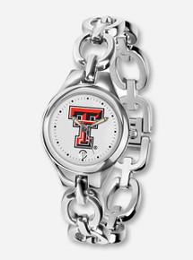 Texas Tech ST Eclipse Women's Silver Watch