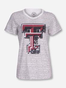 47 Brand Texas Tech Sparkle Striped T-Shirt