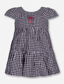 "Garb Texas Tech ""Brigette"" INFANT Black Checkered Dress and Bloomer Set"