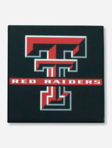 Texas Tech Red Raiders with Double T Black Coaster