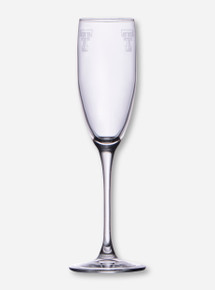 Texas Tech Etched Double T Champagne Flute