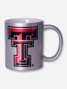 Texas Tech Double T on Metallic Silver Mug