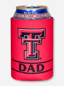 Texas Tech Dad on Red Koozie
