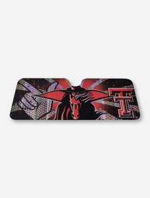 Texas Tech Masked Rider Car Sun Shade