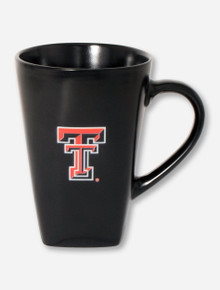 Texas Tech Double T on Satin Black Coffee Mug