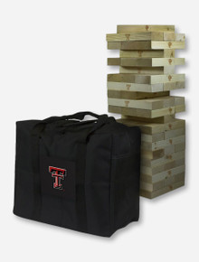 Texas Tech Red Raiders Giant Wooden Tumble Tower Game - ONLINE ONLY