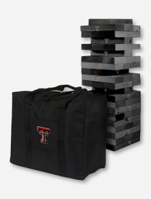 Texas Tech Red Raiders Onyx Stained Giant Wooden Tumble Tower Game - ONLINE ONLY