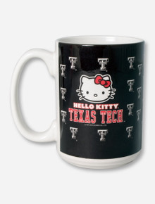 Hello Kitty Double T Patterned Black Coffee Mug