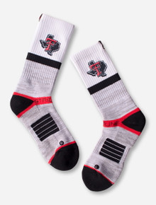 "Texas Tech Strideline ""Split"" With Lone Star Pride on White Crew Socks"