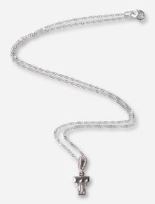 DaynaU Texas Tech Silver Double T Charm Necklace
