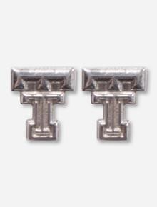 Texas Tech DanyaU Silver Double T Earring Studs