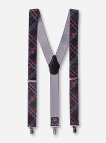 Texas Tech Double T Plaid Black Suspenders