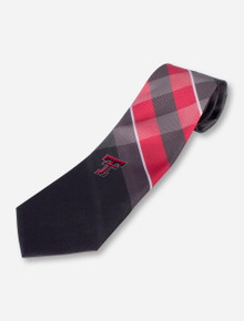 Texas Tech Double T Charcoal and Red Tie