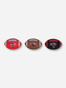 "Texas Tech ""Third Down"" Set of 3 Softee Footballs"