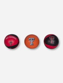 """Texas Tech """"3 Pointer"""" Set of 3 Basketballs"""