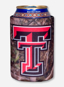 Texas Tech Double T Camo Koozie
