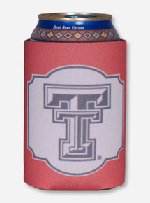 Texas Tech Black and White Double T Window Pane Koozie