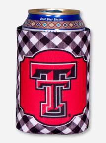 Texas Tech Double T Gingham Koozie