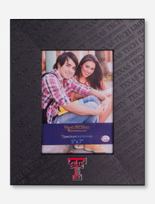 Texas Tech Embossed Black Vertical Frame
