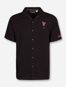 Chiliwear Texas Tech Double T on Black Button Up Dress Shirt