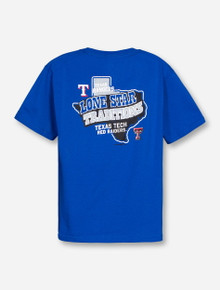 Champion MLB Texas Tech and Texas Rangers Lone Star Traditions on YOUTH Royal Blue T-Shirt