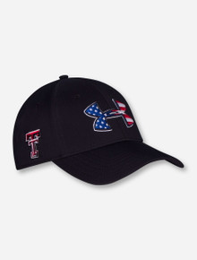 "Under Armour Texas Tech ""American Flag"" Black Stretch Fitted Cap"
