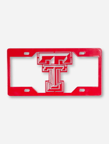 Texas Tech Double T Red License Plate Cover