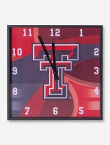 Texas Tech Whirlpool Square Wall Clock