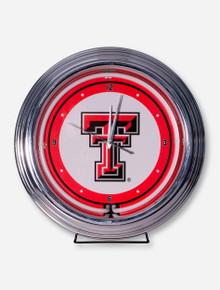 Texas Tech Neon Wall Clock