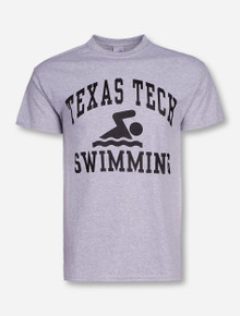 Texas Tech Swimming on Heather Grey T-Shirt