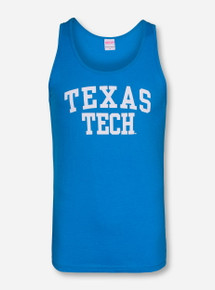 Texas Tech White Stack on Blue Tank Top
