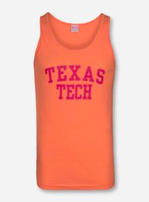 Texas Tech Pink Stack on Orange Tank Top