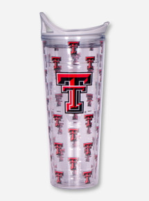Texas Tech Repeating Double T Travel Tumbler