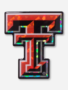 Texas Tech Full Color Double T Reflective Domed Emblem