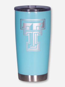 Texas Tech Double T Aqua Steel Travel Tumbler