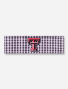 Texas Tech Double T on Gingham Hairband