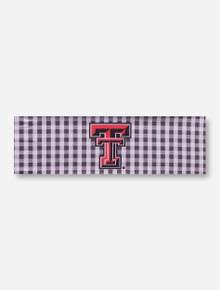 Texas Tech Double T on Gingham Hairband